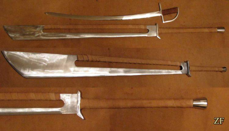 Falshion sword two-handed, buhurt
