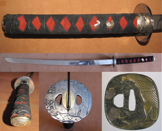 Katana with tsuba of the Edo period