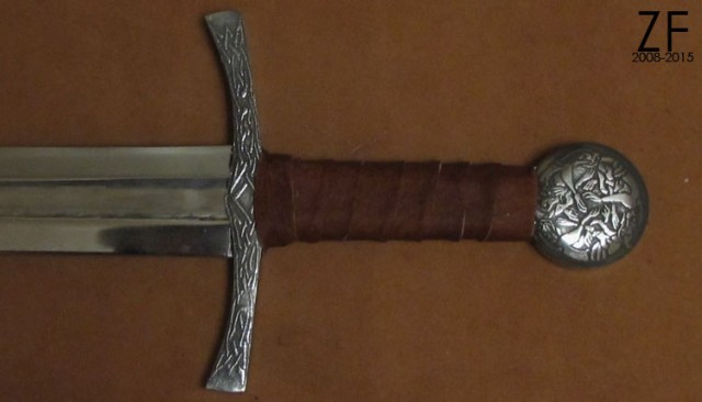 Oakeshott Type XII Sword with Modified Pommel and Etched Guard and Pommel